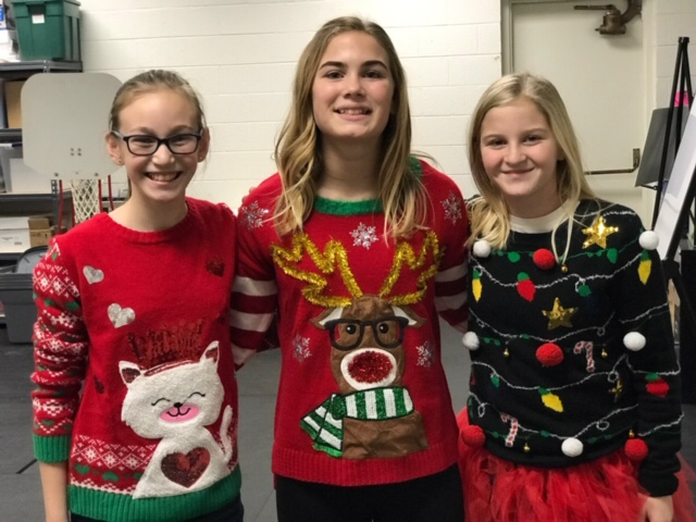 Ugly Christmas Sweater Day, but still adorable!!